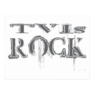 TVIs Rock Postcard