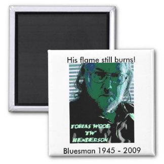 TW Henderson 1945-2009 Blues Magnets