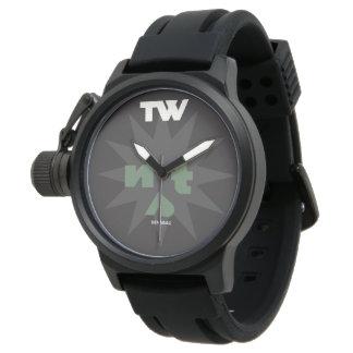 TW, NTS / Black Mens Watch Reloj De Mano