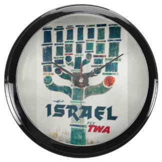 TWA de Israel Menorah Relojes Aqua Clock