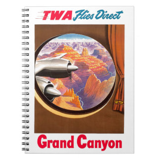 TWA Grand Canyon Spiral Note Book