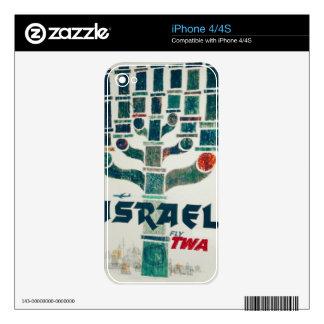 TWA Israel Menorah Decal For iPhone 4