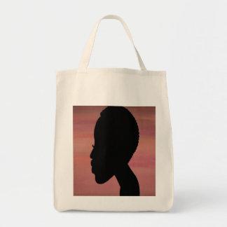 TWA (teeny weeny afro) grocery bag