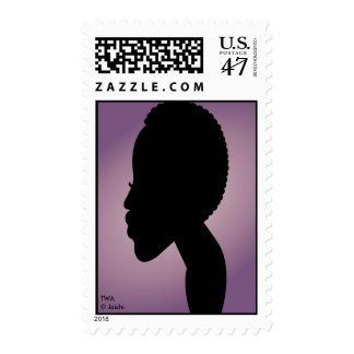TWA (teeny weeny afro) in lavender Postage Stamp