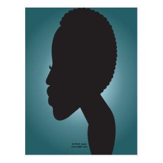 TWA Teeny Weeny Afro - Teal Postcard