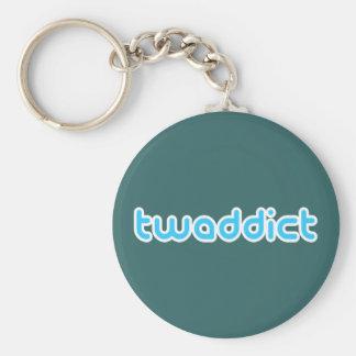 Twaddict Basic Round Button Keychain