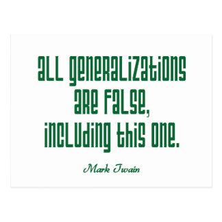 Twain en generalizaciones postales
