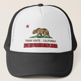twain harte california state flag trucker hat