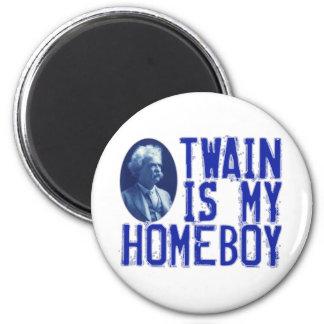 Twain Is My Homeboy 2 Inch Round Magnet