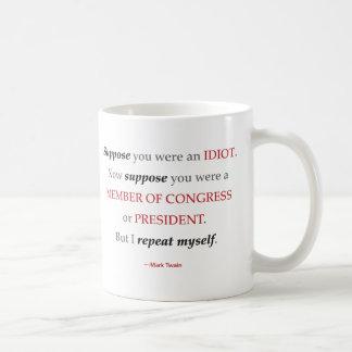Twain Member Of Congress Quote Mug