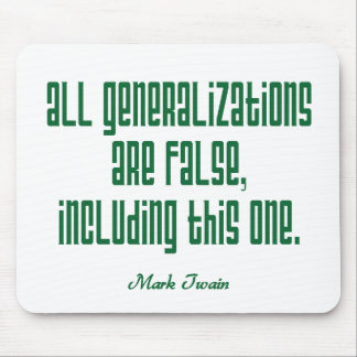 Twain on Generalizations Mouse Pad