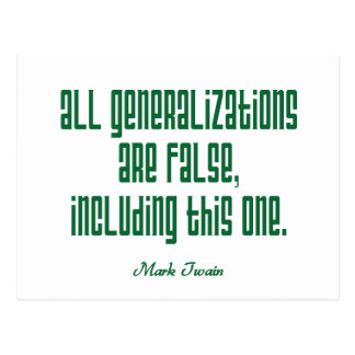 Twain on Generalizations Post Cards
