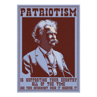 Twain -Patriotism Poster