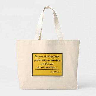 Twain Quote Large Tote Bag