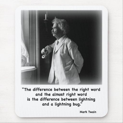 Twain's Lightning Bug Mousepad