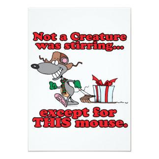 twas el dibujo animado del ratón del navidad de la invitación 12,7 x 17,8 cm