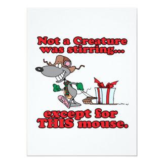 twas el dibujo animado del ratón del navidad de la invitación 16,5 x 22,2 cm
