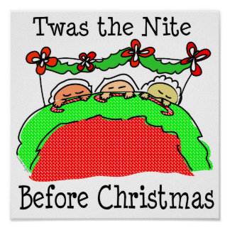 Twas Night Before Christmas Poster