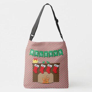 Twas the Night Before Christmas • 4 Stockings Crossbody Bag