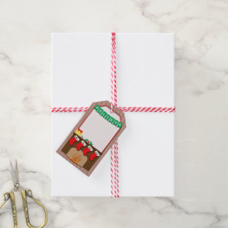 Twas the Night Before Christmas • 4 Stockings Gift Tags