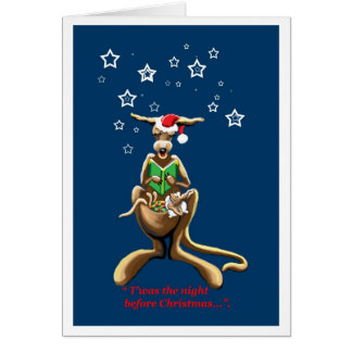 T'was the night before Christmas Australian card