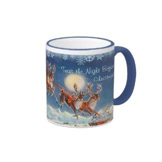 'Twas the NIGHT BEFORE CHRISTMAS by SHARON SHARPE Ringer Coffee Mug