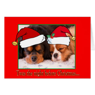 Twas The Night Before Christmas Cavalier Card