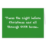 """""""Twas the night before Christmas ... - Customized Greeting Cards"""