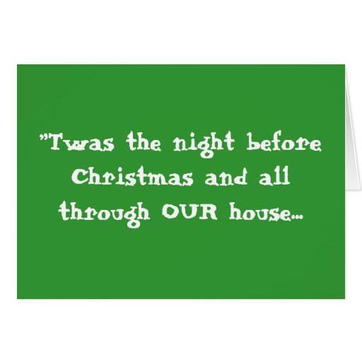 """""""Twas the night before Christmas ... - Customized Stationery Note Card"""