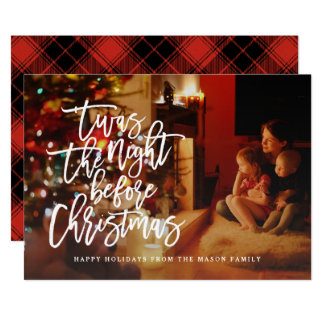 'Twas The Night Before Christmas Holiday Photo Card
