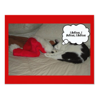 Twas the Night before Christmas Kitten 4.25x5.5 Paper Invitation Card