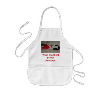 Twas the Night before Christmas Kitten Kids' Apron