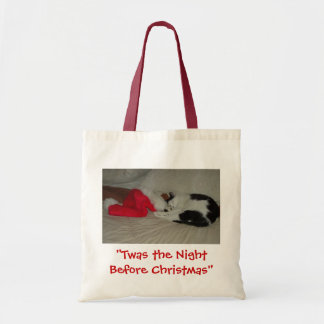 Twas the Night before Christmas Kitten Tote Bag