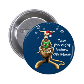 Twas the night before Christmas Pinback Button