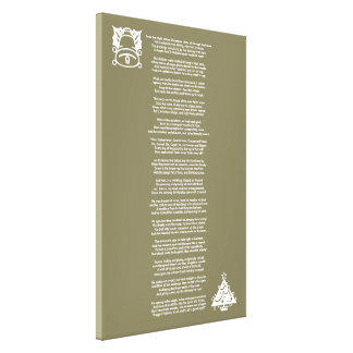 Twas the Night Before Christmas Poem Canvas