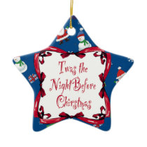 Twas the Night Before Christmas star ornament