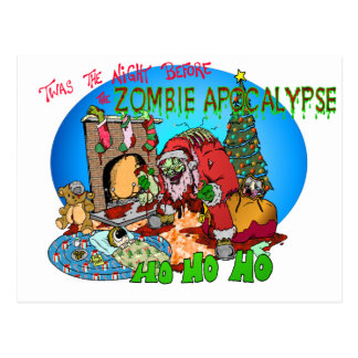 Twas the Night Before the Zombies Postcard