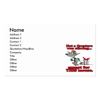 twas the night christmas mouse cartoon Double-Sided standard business cards (Pack of 100)