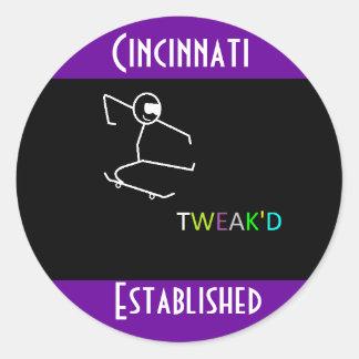 TWEAK'D Cincinnati Established Classic Round Sticker