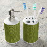 Tweed-Olive(c)Kitchen _Bathroom Soap Dispenser & Toothbrush Holder