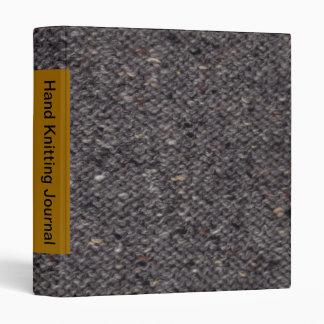 "Tweed purl stitch - gray -1.4"" binder"