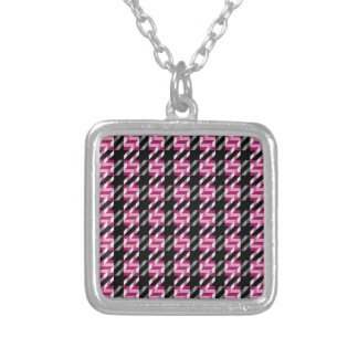 Tweed Texture Silver Plated Necklace