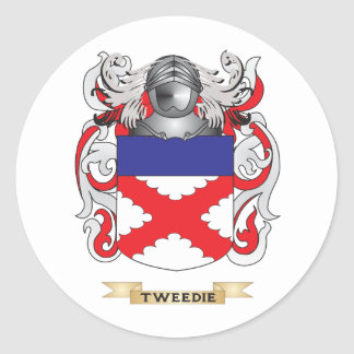 Tweedie Family Crest (Coat of Arms) Classic Round Sticker