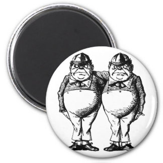 Tweedle Dee and Tweedle Dum 2 Inch Round Magnet