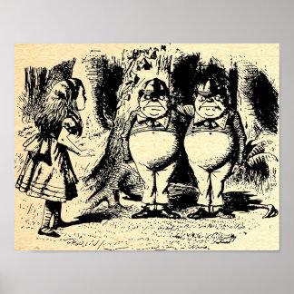 Tweedle Dee and Tweedle Dum Alice Posters