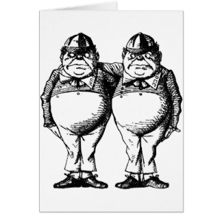 Tweedle Dee and Tweedle Dum Card