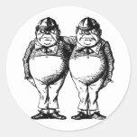 Tweedle Dee and Tweedle Dum Classic Round Sticker
