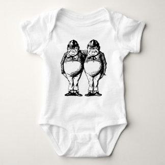 Tweedle Dee and Tweedle Dum Inked Baby Bodysuit