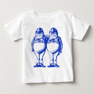 Tweedle Dee and Tweedle Dum Inked Blue Baby T-Shirt