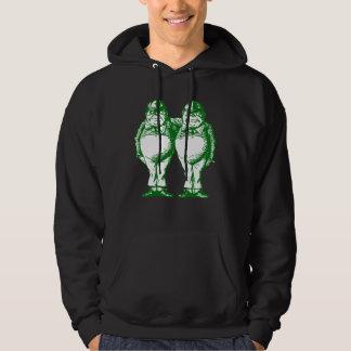 Tweedle Dee and Tweedle Dum Inked Green Hoodie